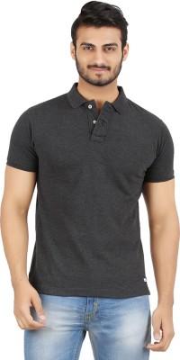 Hoodz Solid Men's Polo Neck Black T-Shirt
