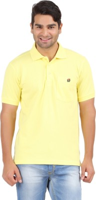 4thneed Solid Men's Polo Yellow T-Shirt