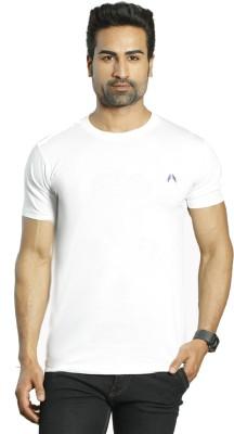 ALBITEN Solid Men's Round Neck White T-Shirt