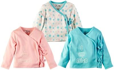 Mom & Me Printed Baby Girl's V-neck Multicolor T-Shirt