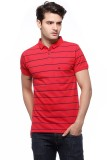 Fasnoya Striped Men's Polo Neck Red T-Sh...