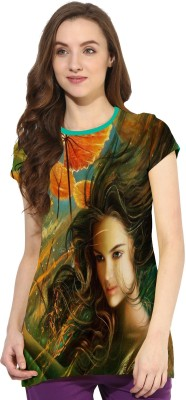 So Sweety Printed Girl's Round Neck Multicolor T-Shirt