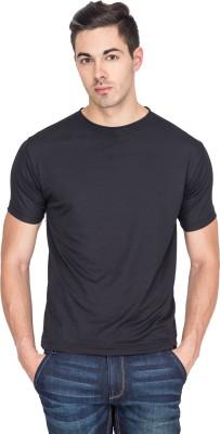 Sulpher Solid Men's Round Neck Black T-Shirt