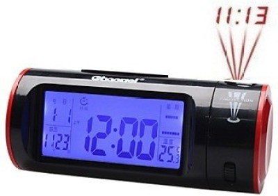 Flintstop Digital Black Clock
