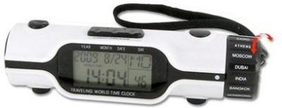 KBs Digital White Clock