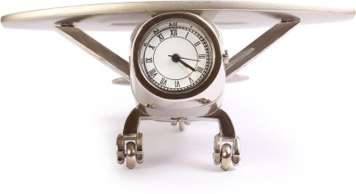 Something Special Analog Silver, Glass Clock