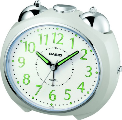 Casio Analog White Clock