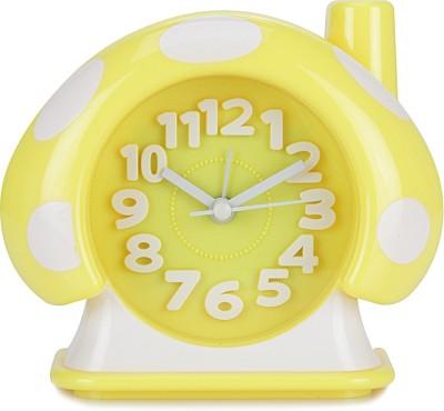 Design O Vista Analog Yellow, White Clock