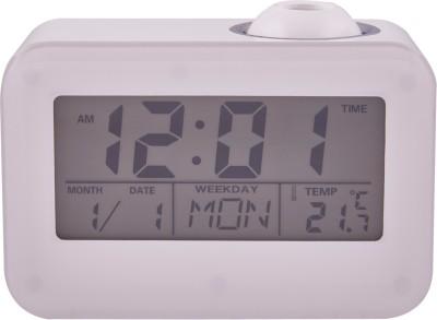 KBE Digital White Clock