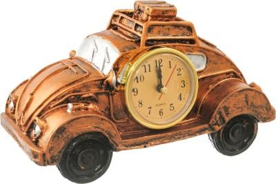 sachidanand solutions beautiful car shape table Analog-Digital golden Clock