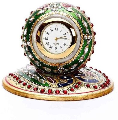 Sanskriti Objects Analog Orange Clock