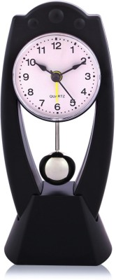 Arete s005-b Pendulum Table Clock with Alarm Analog Black Clock