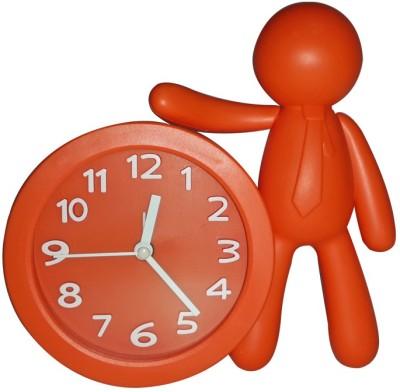 ShopeGift Analog Orange Clock