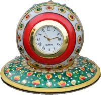 Khushal Analog Green Clock