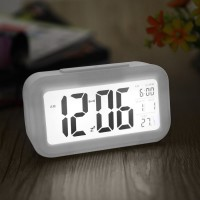 Shadow Fax Digital White Clock