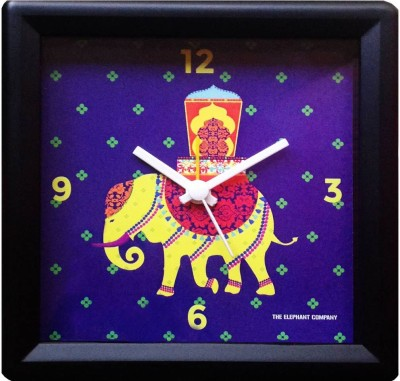 The Elephant Company Analog Blue Clock