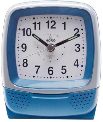Horo Analog Metallic Grey Clock