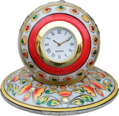 eCraftIndia Analog Green, Golden, Red Clock