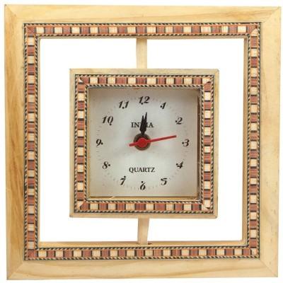 R S Jewels Analog Brown, Beige Clock