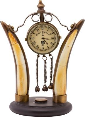 Prachin Analog Brown Clock