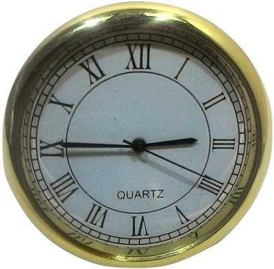 SportsHouse Analog Golden Car & Table Clock