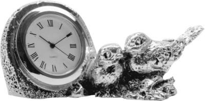 The Divine Luxury Analog Silver Clock