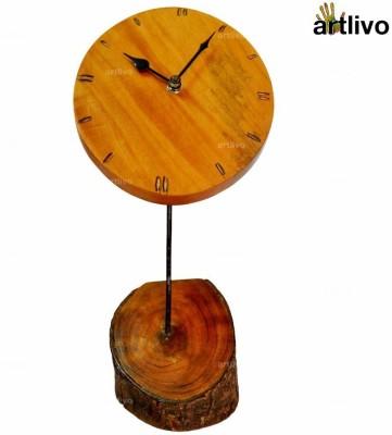Artlivo Analog Brown Clock