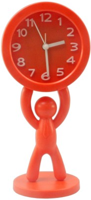 JM Analog Red Clock