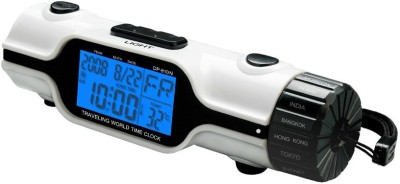 Shopper52 Digital White Clock