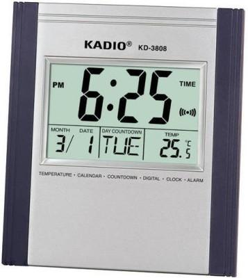 Kadio Digital Silver Clock