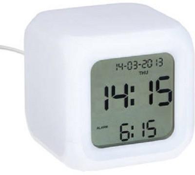 HCS Digital White Clock
