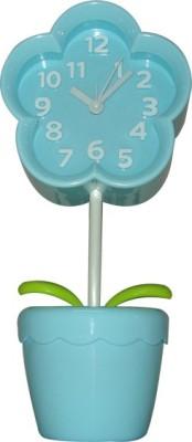 QP360 Analog Flower Blue Clock