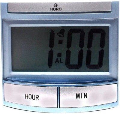Horo Digital Silver, Blue Clock