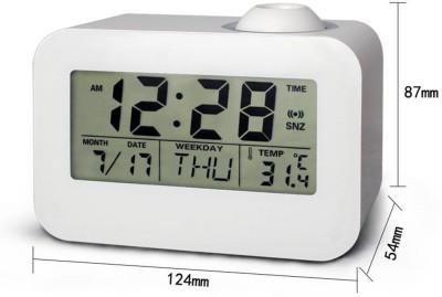 Evana Digital White Clock