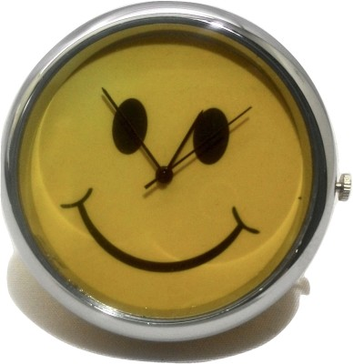 SportsHouse Analog Yellow Smiley Table & Car Clock