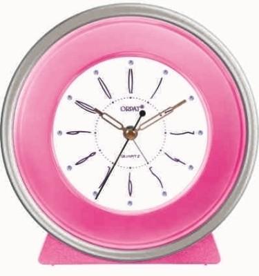 Orpat Analog Pink Clock