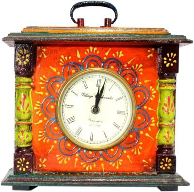 Raja Arts Analog Multicolor Wooden Clock