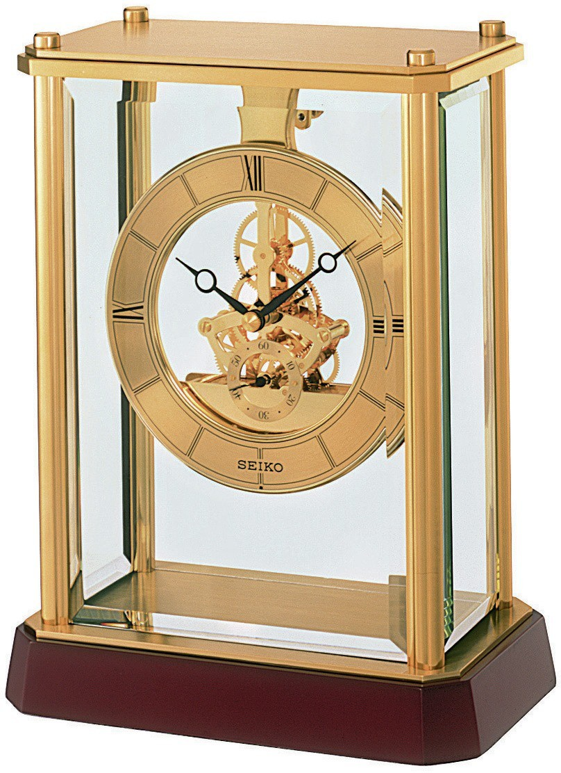 Seiko Analog Golden Clock