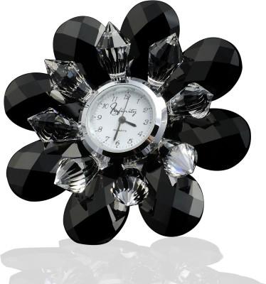 Infinity Analog Black Clock