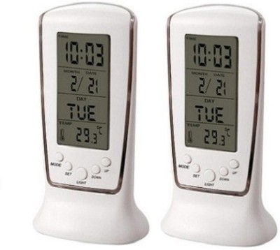 Clockology Digital White Clock
