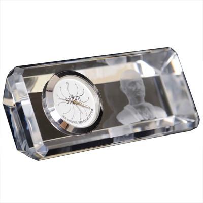 Eternal Gandhi Analog Silver Clock