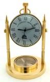 Artshai Analog Golden Clock