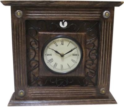 Chilifry Analog Brown, Black Clock