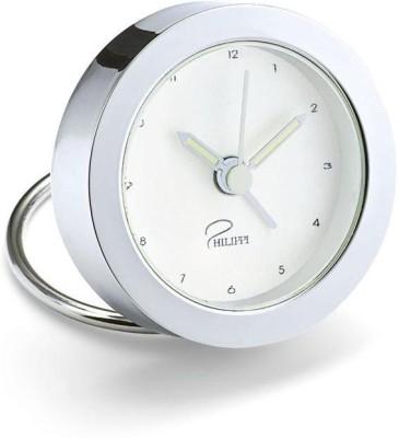 Philippi Analog-Digital Silver Clock