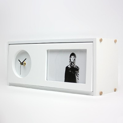 Taino Analog White Clock