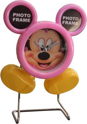 Scrazy Analog-Digital Pink, Yellow Clock