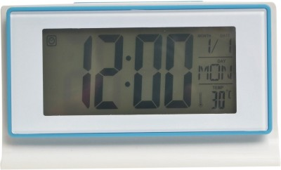 Wallace DS-3601 Voice Control Back-Light LCD Clock Digital Blue, White Clock