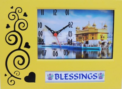 Feelings Analog Yellow Clock