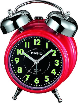 Casio Analog Red, Black Clock