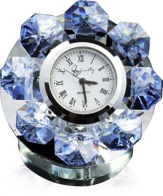 Infinity Analog Blue Clock